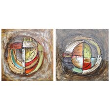 Hilts 2 Peice Painting Print on Canvas Set (Set of 2)