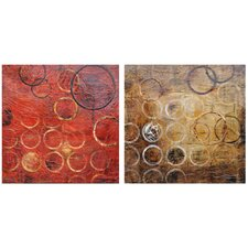 Hendley 2 Peice Graphic Art on Canvas Set (Set of 2)