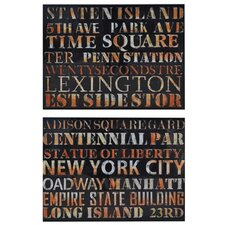 Dashwood 2 Peice Textual Art on Canvas Set (Set of 2)