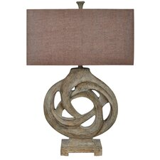 """Coiled Branch 32"""" H Table Lamp with Drum Shade"""