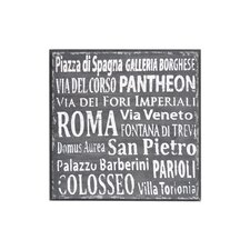 Rossano Textual Art Plaque