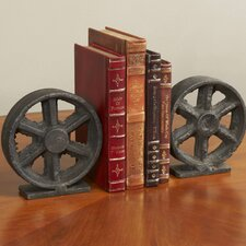 Factory Wheel Book Ends (Set of 2)