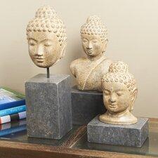 Zin 3 Piece Temle Buddha Bust Set