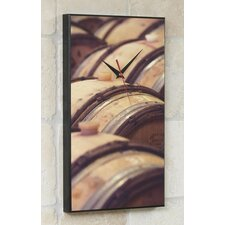 Oak Wine Barrels Wall Clock