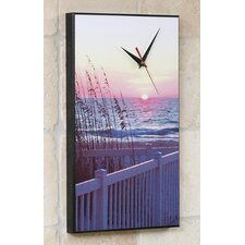 Florida Sea Wheat Sunset Wall Clock