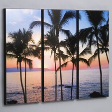"<strong>Wilson Studios</strong> Three Piece Puerto Vallarta Sunset Laminated Framed Wall Art Set - 36"" x 48"""