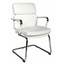 Deco Visitor Chair in White