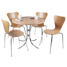 Cafe Bistro Chair and Table 5 Piece Set