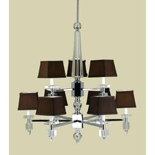 Cluny 9 Light Chandelier with Poly Silk Shade