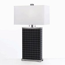 Horizons Hounds Tooth 2 Light Table Lamp