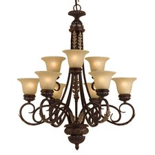 <strong>AF Lighting</strong> Round Table 9 Light Chandelier