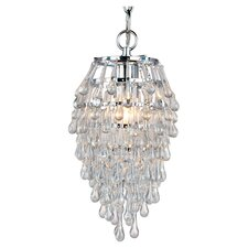 Crystal Teardrop 1 Light Mini Chandelier