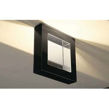 <strong>Murano Luce</strong> Box Flush Mount in Polished Steel