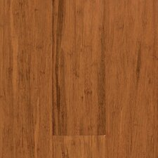 "Natural Bamboo Expressions 5-1/4"" Solid Locking Strand Woven Bamboo Flooring in Handscraped Spice"