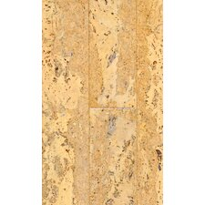 "Natural Cork New Earth Corona 4-1/8"" Engineered Locking Cork Flooring in Natural"