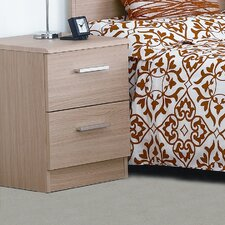 Visualise Shaker 2 Drawer Bedside Table