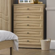 Visualise Bordeaux 5 Drawer Chest