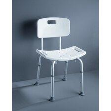 """Badezimmer-Stuhl höhenverstellbar """"Assistent"""" mit Rückenlehne"""