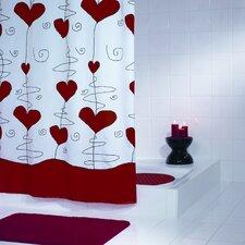 """Duschvorhang """"Valentine"""" in Rot"""