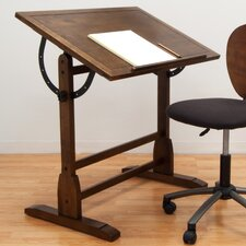 <strong>Studio Designs</strong> Vintage Wood Drafting Table