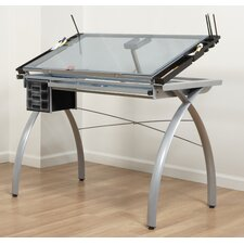 <strong>Studio Designs</strong> Futura Station Glass Drafting Table