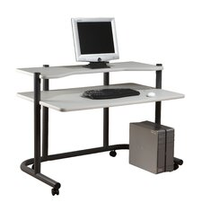 <strong>Studio Designs</strong> Pewter Computer Workstation