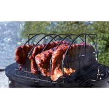 <strong>Charcoal Companion</strong> Steven Raichlen Non-Stick Ultimate Rib Rack