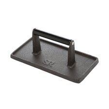 <strong>Charcoal Companion</strong> Steven Raichlen Cast Iron Rectangular Grill Press