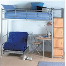 Storage Loft Bed with Chair
