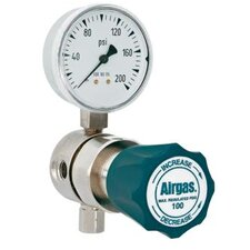 - 100 PSI Delivery Analytical Single Stage High-Purity Brass Line Regulator With 1200 PSI Maximum Rated Inlet Pressure