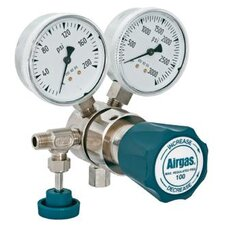<strong>Airgas</strong> - 100 PSI Delivery Analytical Single Stage High-Purity Brass Pressure Regulator With 3000 PSI Maximum Rated Inlet Pressure, CGA-580