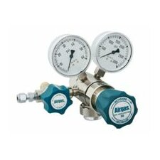 - 100 PSI Delivery Two Stage Brass Analytical Regulator With 3000 PSI Maximum Rated Inlet Pressure, Check Valve And Purifier In Regulator Body, CGA-580