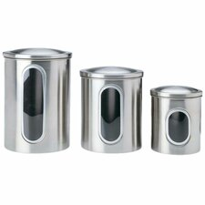 3-Piece Window Canister Set
