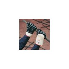Large Palm Nitrile Coated Heavy Duty Work Gloves With Rough Finish and Knit Wrist (72 Pair Per Case)