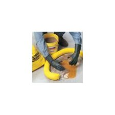 "Chemical Resistant Unsupported Butyl, 14"", 25-Mil, Smooth, Rolled Cuff Glove Size Large"