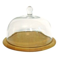 Artisan Cake Stand with Glass Dome
