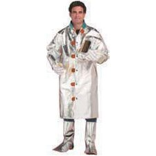 "Large Aluminized Carbon Kevlar® 50"" Coat With Velcro® Closure"
