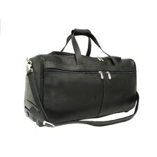 "Traveler 21.5"" Leather 2-Wheeled Travel Duffel"
