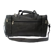 "Traveler 19"" Leather Travel Duffel with Side Pockets"