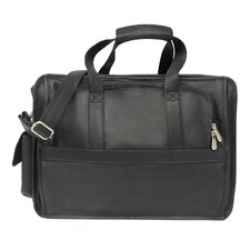 <strong>Piel Leather</strong> Entrepeneur Half-Moon Portfolio Laptop Briefcase