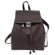 <strong>Piel Leather</strong> Top Flap Drawstring Backpack