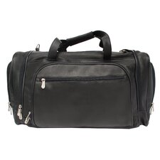 "<strong>Piel Leather</strong> 20"" Leather Multi-Compartment Carry-On Duffel"