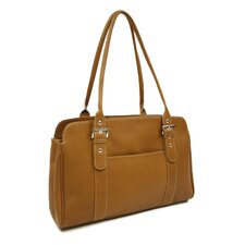 Ladies Buckle Business Tote in Saddle