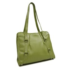 Women's Vertical Belted Business Tote in Apple