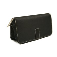 <strong>Piel Leather</strong> Women's Zip Around Wallet in Black