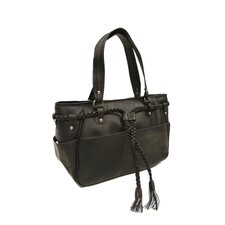 Women's Braided Belt Shoulder Bag in Chocolate