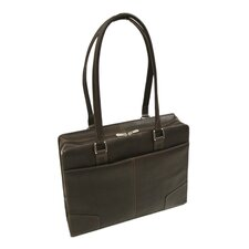 Women's Hard Side Shoulder Tote in Chocolate