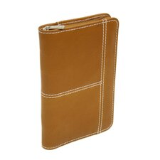 Small Leather Goods Large Pocket Planner in Saddle