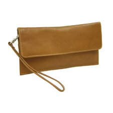 <strong>Piel Leather</strong> Small Leather Goods Travel Wallet in Saddle