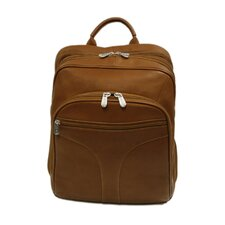 <strong>Piel Leather</strong> Entrepreneur Checkpoint Friendly Urban Backpack in Saddle